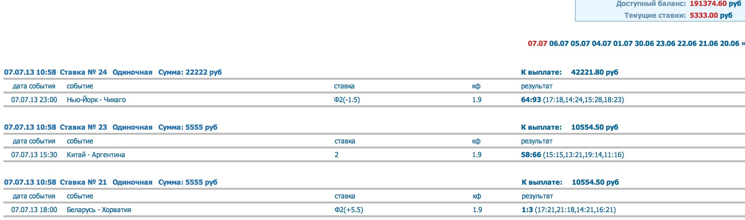 фото счетов букмекерских контор
